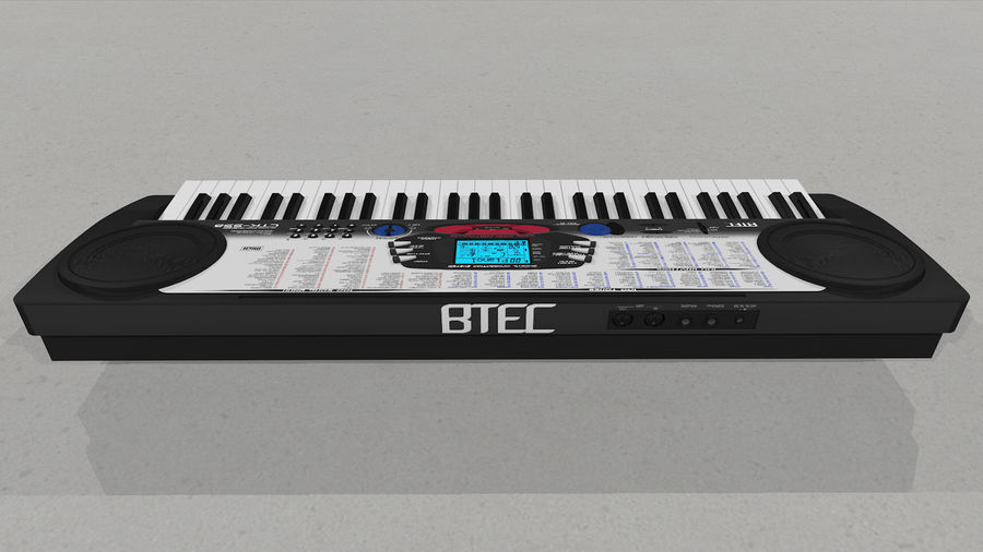 Synthesizer Keyboard royalty-free 3d model - Preview no. 14