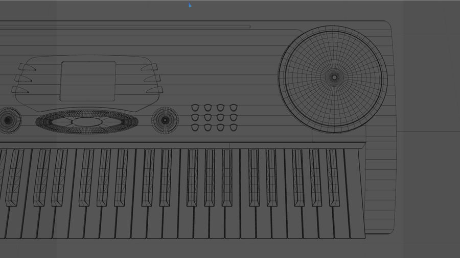 Synthesizer Keyboard royalty-free 3d model - Preview no. 21