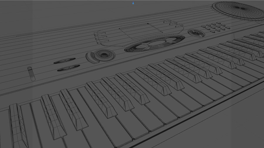 Synthesizer Keyboard royalty-free 3d model - Preview no. 23