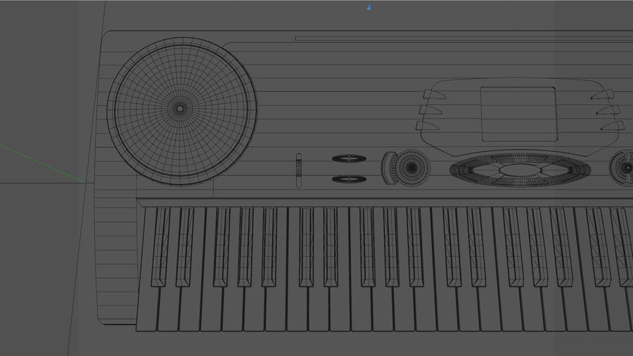 Synthesizer Keyboard royalty-free 3d model - Preview no. 17