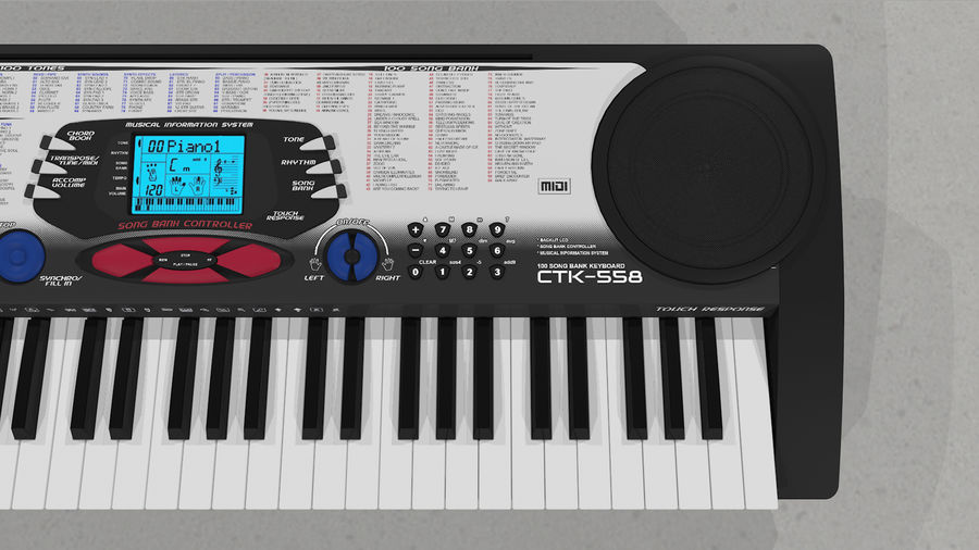 Synthesizer Keyboard royalty-free 3d model - Preview no. 20