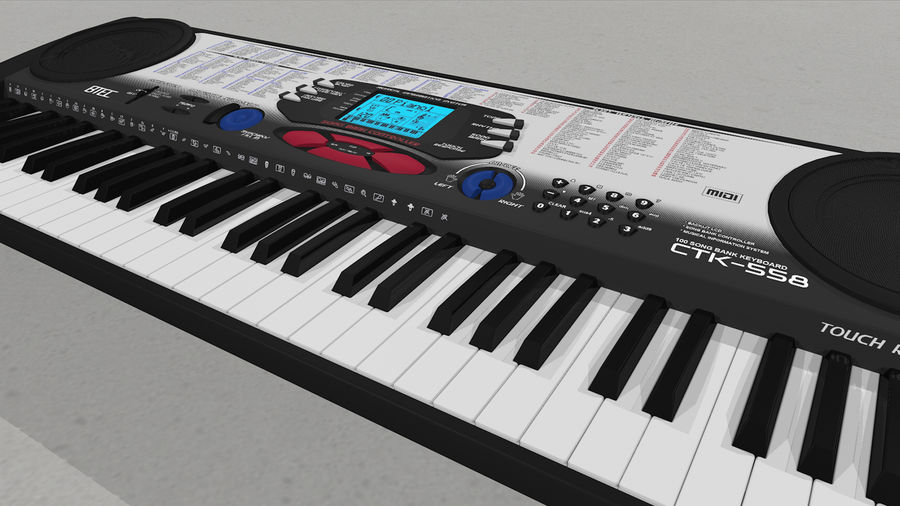 Synthesizer Keyboard royalty-free 3d model - Preview no. 34