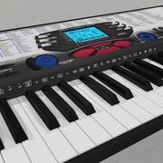 Teclado sintetizador modelo 3d
