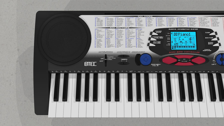 Synthesizer Keyboard royalty-free 3d model - Preview no. 16