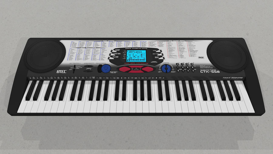 Synthesizer Keyboard royalty-free 3d model - Preview no. 4