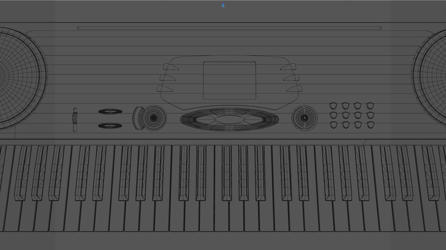 Synthesizer Keyboard royalty-free 3d model - Preview no. 19