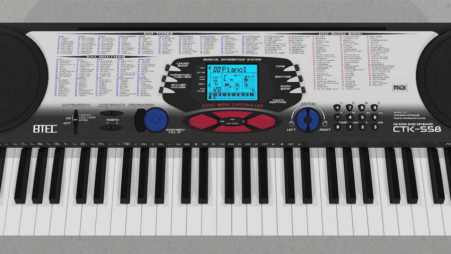 Synthesizer Keyboard royalty-free 3d model - Preview no. 18