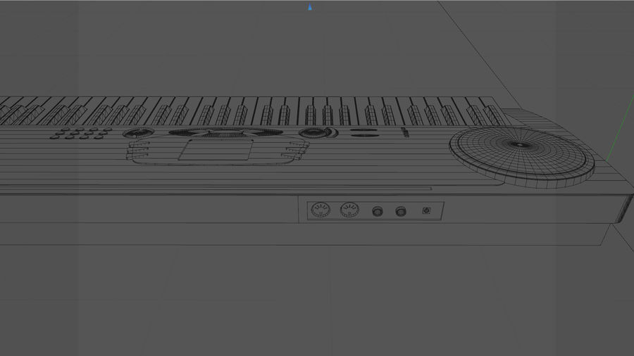 Synthesizer Keyboard royalty-free 3d model - Preview no. 27