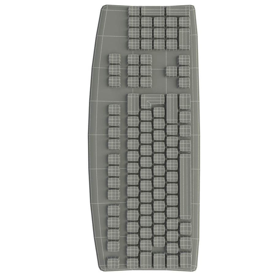 Computer Keyboard royalty-free 3d model - Preview no. 6