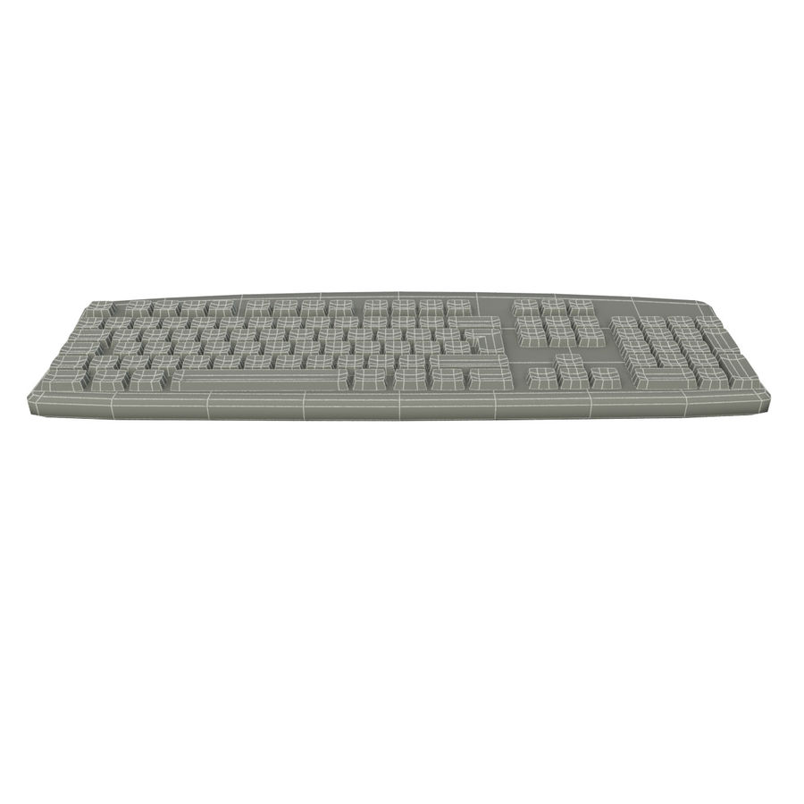 Computer Keyboard royalty-free 3d model - Preview no. 7