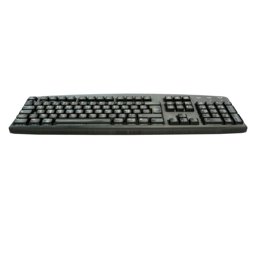 Computer Keyboard royalty-free 3d model - Preview no. 3
