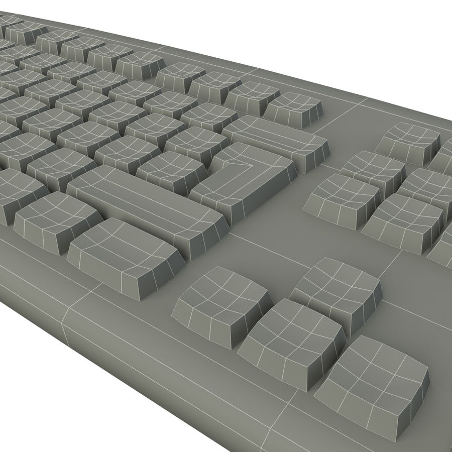 Computer Keyboard royalty-free 3d model - Preview no. 8
