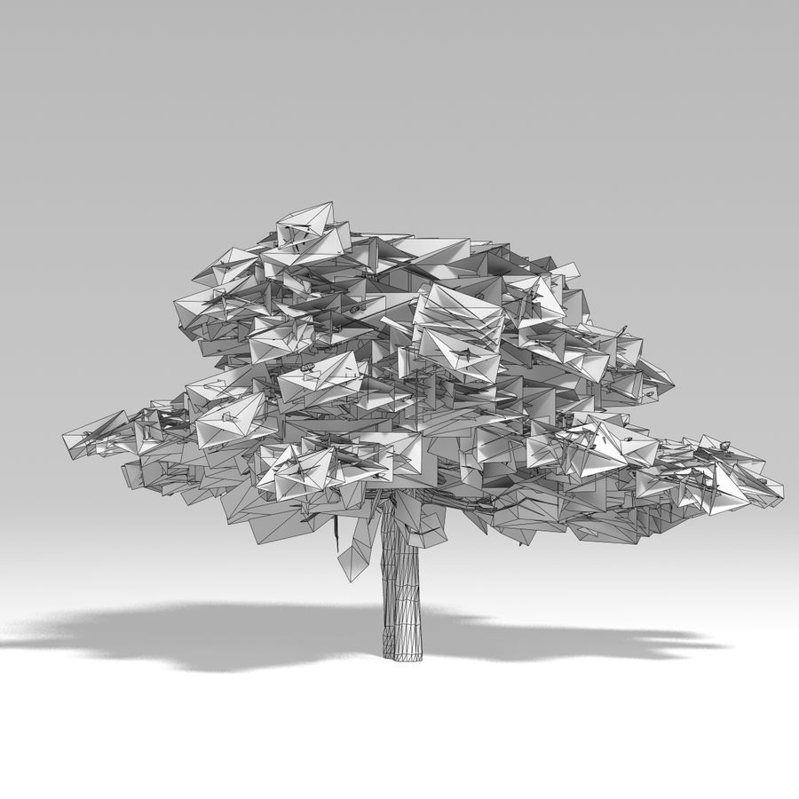 Snowtree V2 royalty-free 3d model - Preview no. 7