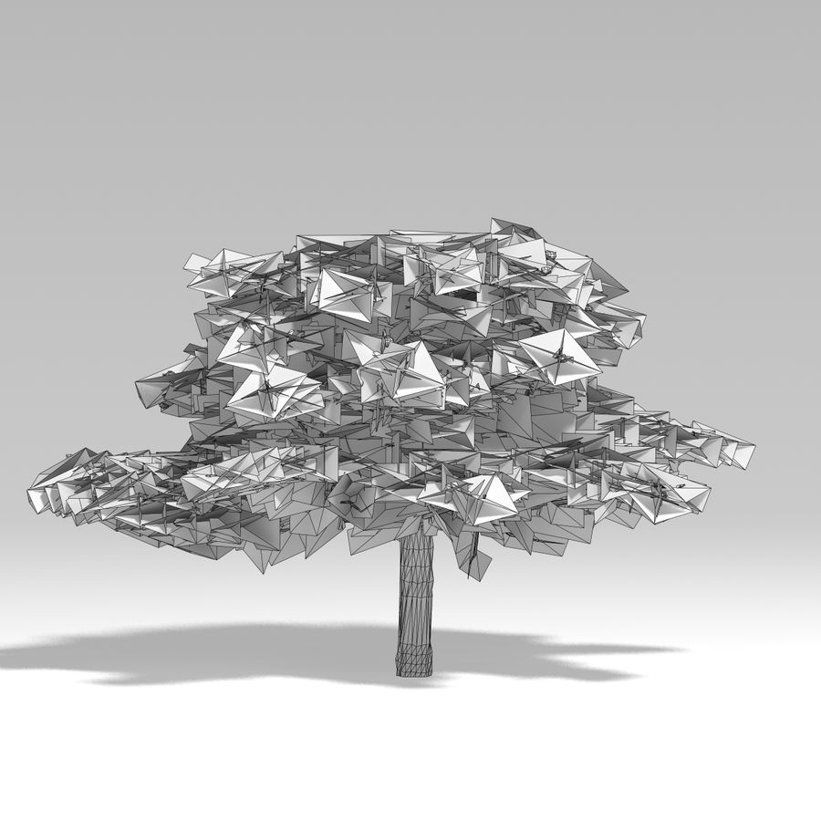 Schneebaum V2 royalty-free 3d model - Preview no. 11