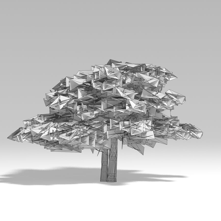 Schneebaum V2 royalty-free 3d model - Preview no. 10