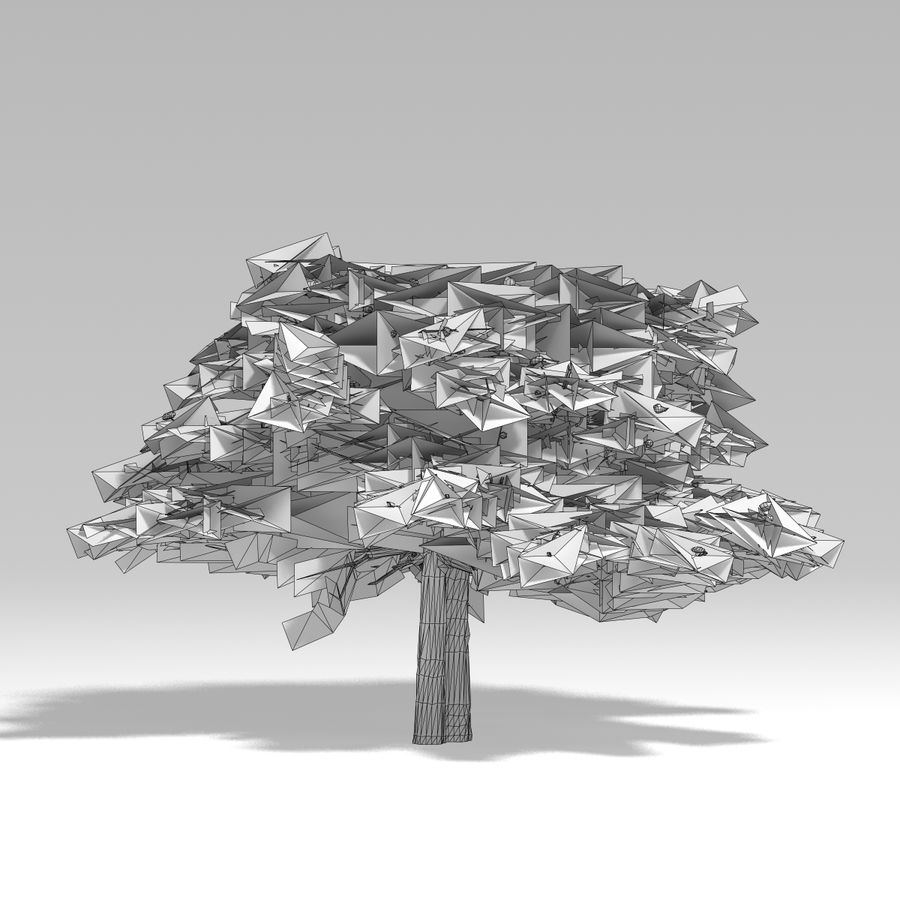 Snowtree V2 royalty-free 3d model - Preview no. 8