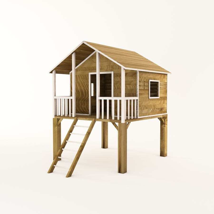 High Quality Wooden Children Playhouse On Stilts Ready To