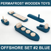 Permafrost Norwegian Wooden Toy Offshore set # 2 인테리어 시각화 준비 (High Poly 모델). 3d model