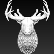 Трофей головы оленя 3d model