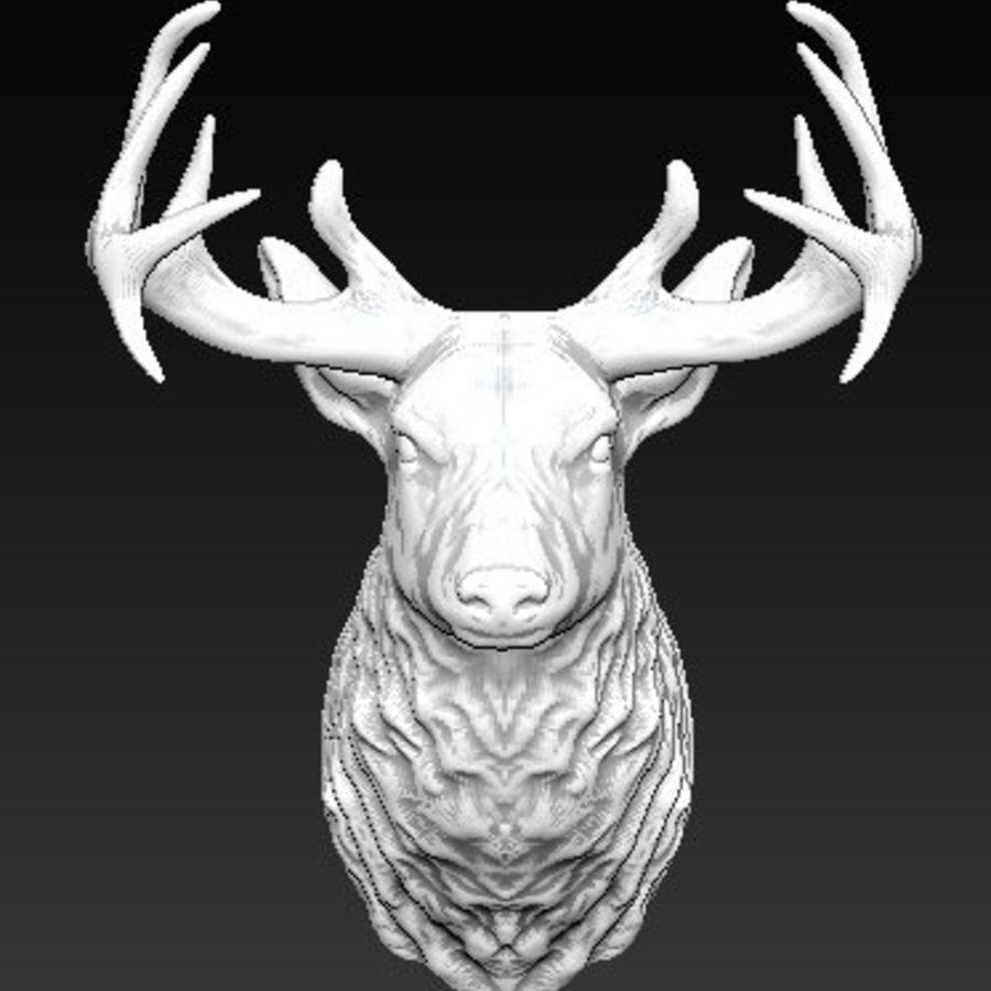 Trofeum z głową jelenia royalty-free 3d model - Preview no. 1