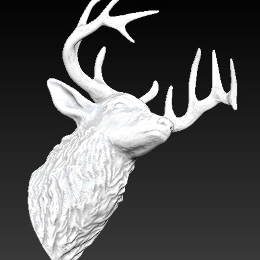 Trofeum z głową jelenia royalty-free 3d model - Preview no. 5