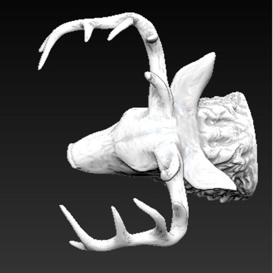 Trofeum z głową jelenia royalty-free 3d model - Preview no. 4