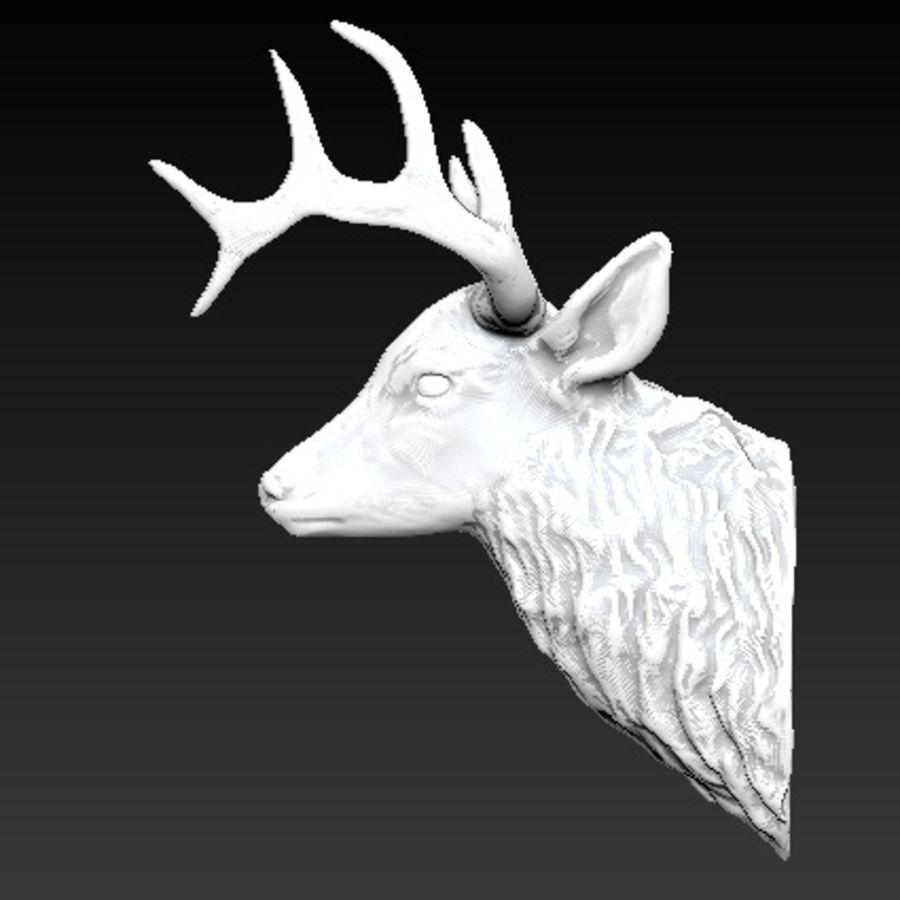 Trofeum z głową jelenia royalty-free 3d model - Preview no. 3