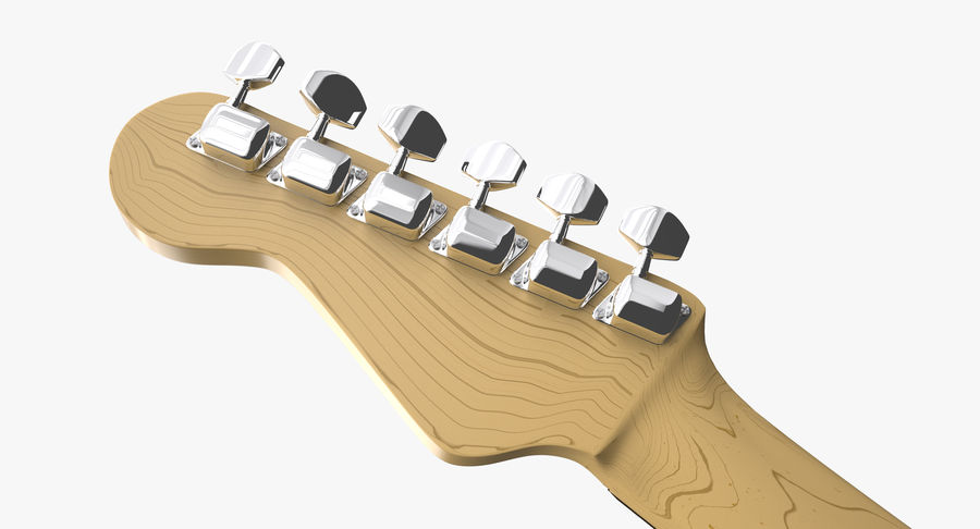 Squier Stratocaster Gitarre royalty-free 3d model - Preview no. 14