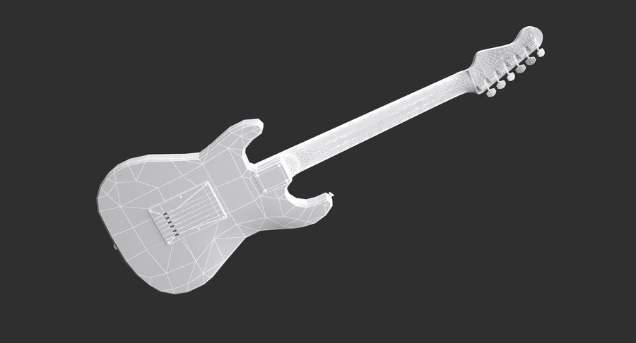 Squier Stratocaster Gitarre royalty-free 3d model - Preview no. 9