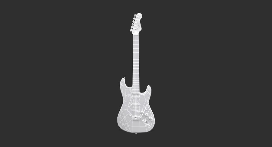 Squier Stratocaster Gitarre royalty-free 3d model - Preview no. 3