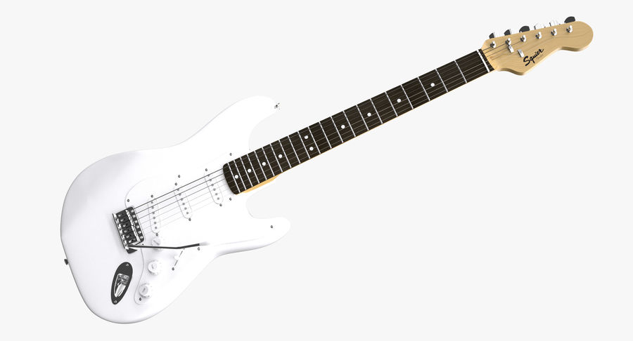 Squier Stratocaster Gitarre royalty-free 3d model - Preview no. 18