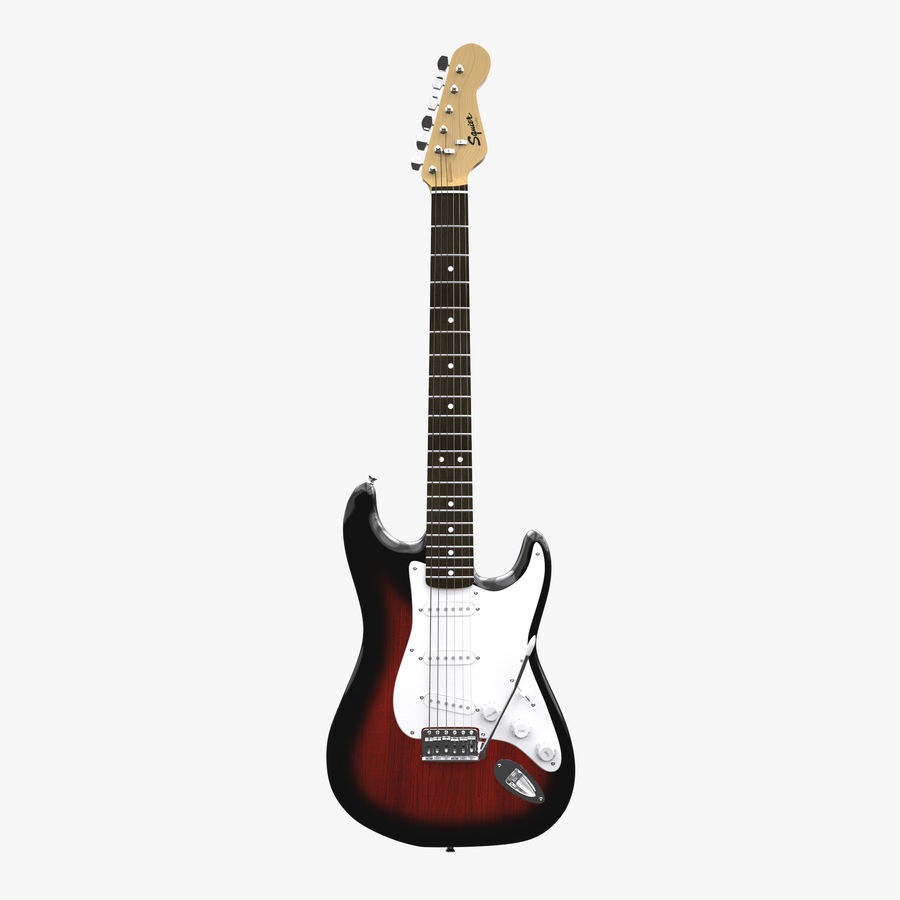 Squier Stratocaster Gitarre royalty-free 3d model - Preview no. 1
