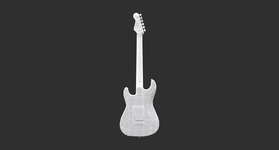 Squier Stratocaster Gitarre royalty-free 3d model - Preview no. 5