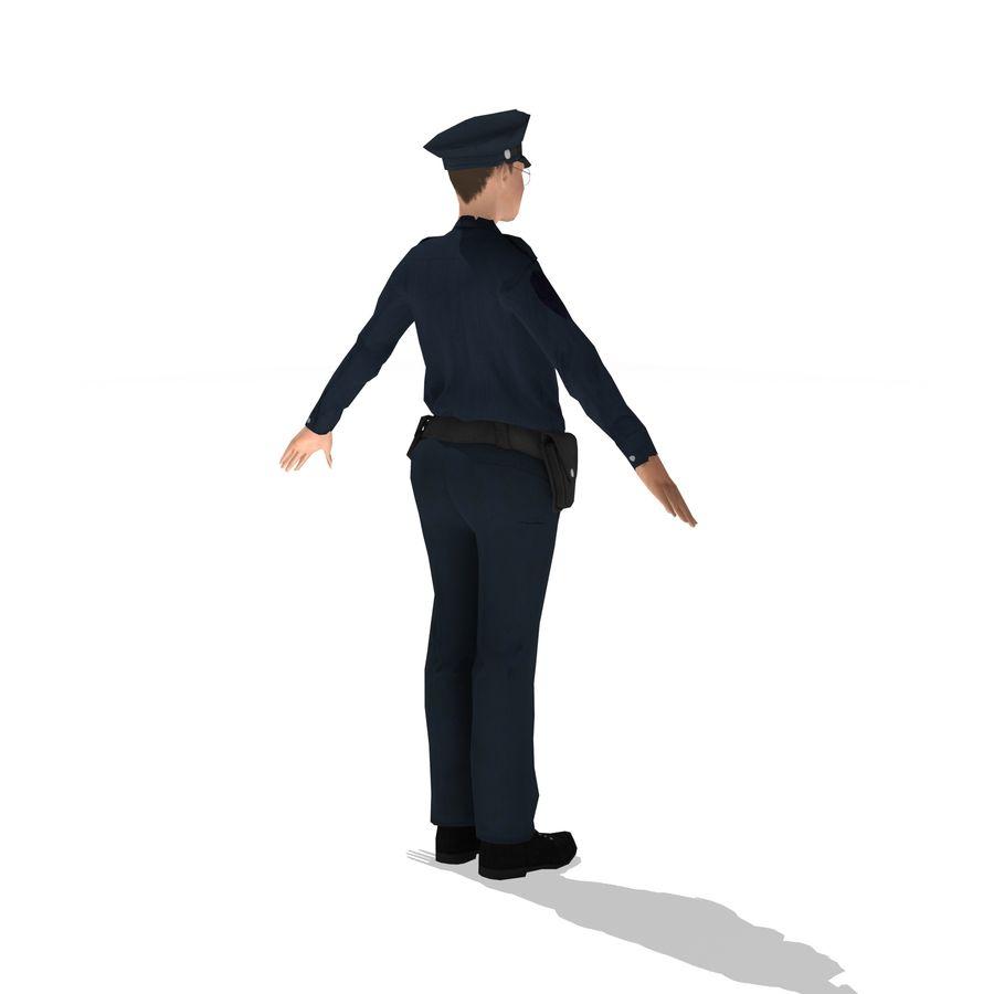 polis kvinna låg poly riggad royalty-free 3d model - Preview no. 4