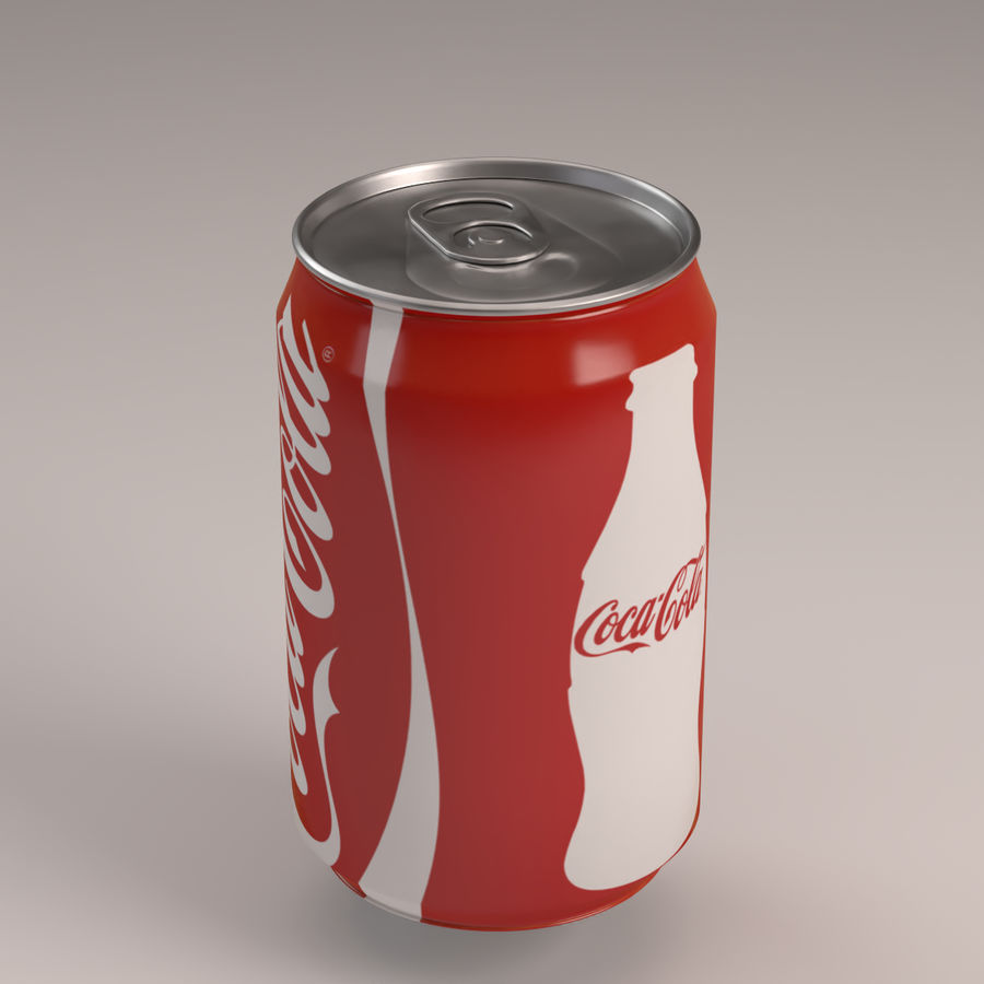 Coca Cola Can royalty-free 3d model - Preview no. 1