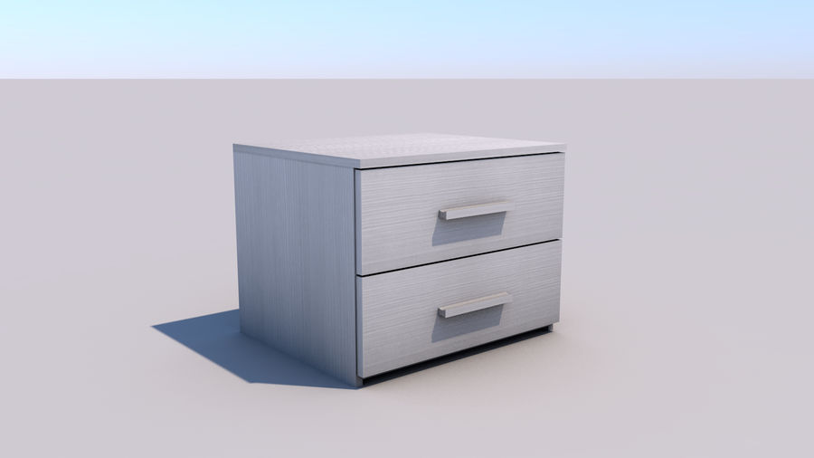 bedroom furniture royalty-free 3d model - Preview no. 4