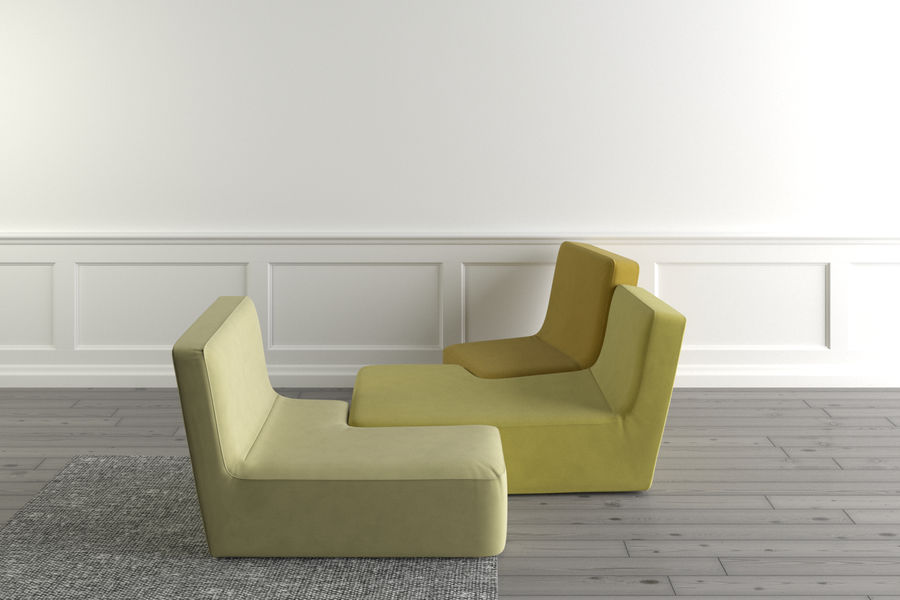 zbiegi ligne roset royalty-free 3d model - Preview no. 7