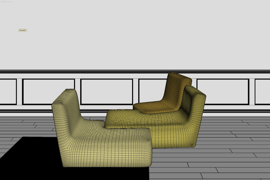 zbiegi ligne roset royalty-free 3d model - Preview no. 9