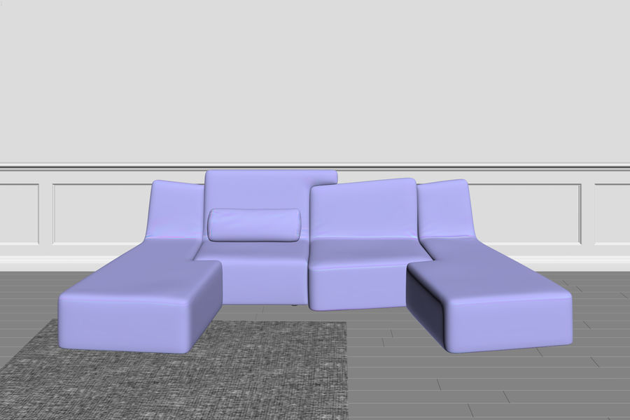 zbiegi ligne roset royalty-free 3d model - Preview no. 2