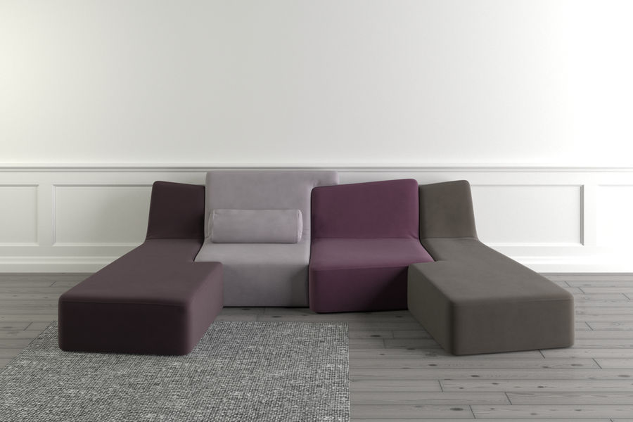 zbiegi ligne roset royalty-free 3d model - Preview no. 1