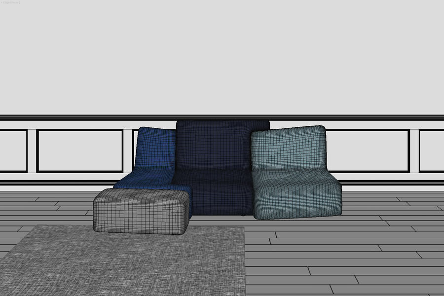 zbiegi ligne roset royalty-free 3d model - Preview no. 6