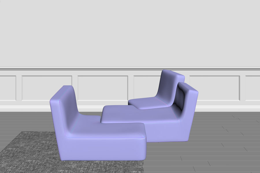 zbiegi ligne roset royalty-free 3d model - Preview no. 8