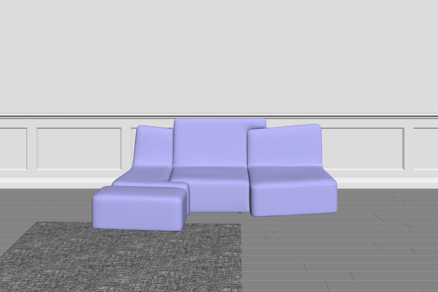 zbiegi ligne roset royalty-free 3d model - Preview no. 5