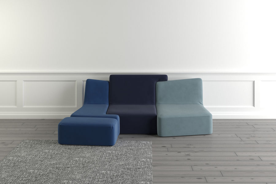 zbiegi ligne roset royalty-free 3d model - Preview no. 4