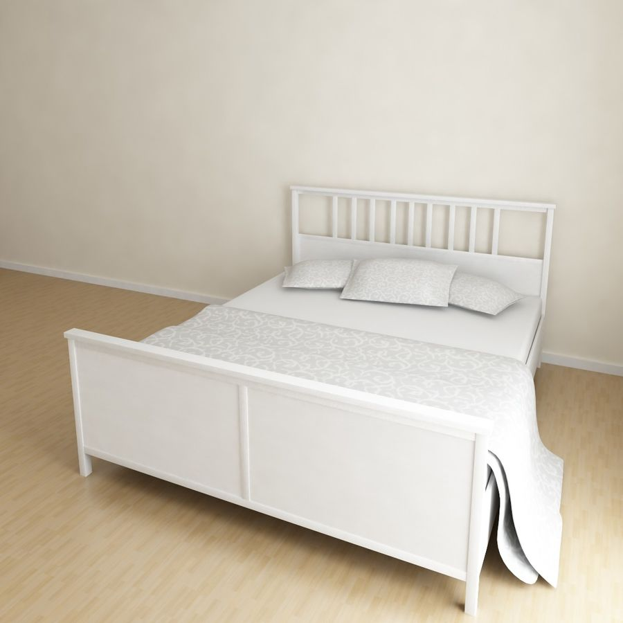 Ikea Hemnes bedframe royalty-free 3d model - Preview no. 1