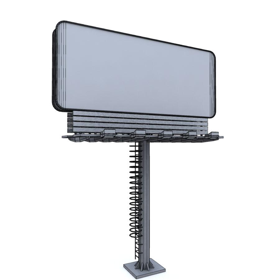 ilan panosu royalty-free 3d model - Preview no. 4