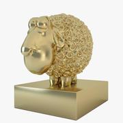 statuette sheep 3d model