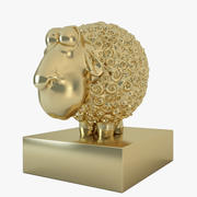 statuette sheep 3d model