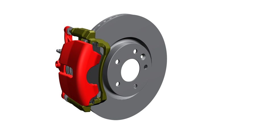 Brake Disc royalty-free 3d model - Preview no. 4
