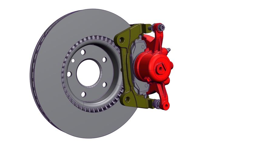Brake Disc royalty-free 3d model - Preview no. 5